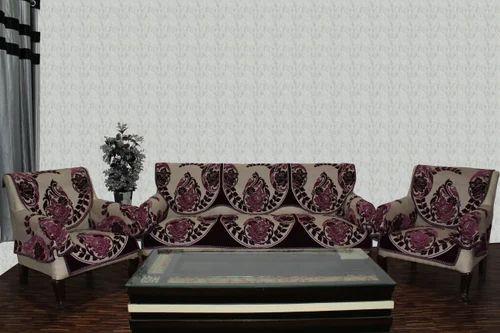 Chenille Sofa Cover Treat Wine 1614