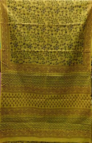 Machine Wash Bagru Print Cotton Saree