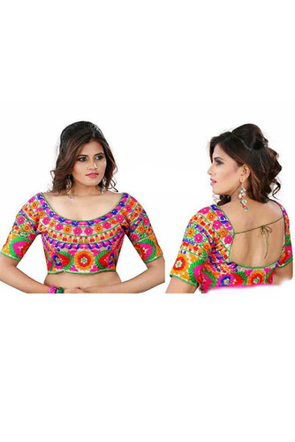 36'  (margin Max Up To 42' ) Multicolor Designer Wear Stylish Party Wear Cotton Blouse