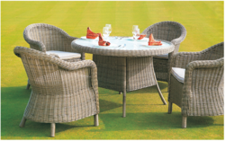 Natural Rattan Style Wicker Outdoor Set