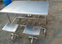 Stainless Steel SS Table And Chair
