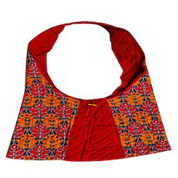 Printed Handicraft Jhola Bag, Size: 12 X 10 Inch