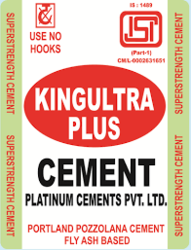 King Ultra King Altra Cement, Packing Size: 50 Kg