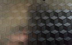 Stainless Steel Cube 3D Effect Designer Sheets
