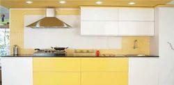 Residential Straight Modular Kitchen, Warranty: 1-5 Years