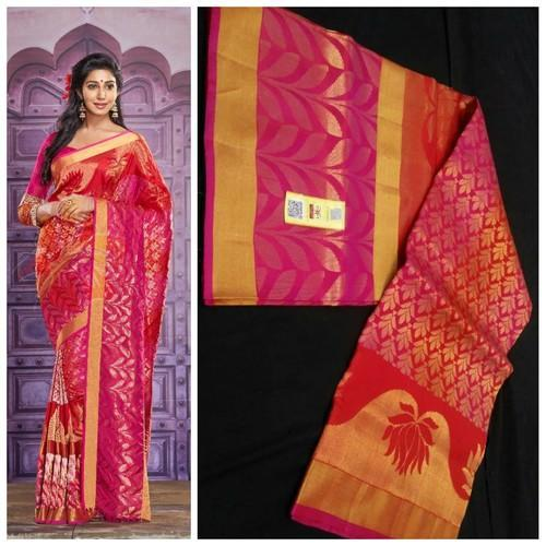 9bdc45e300 Wedding Wear Half Fine Zari Gold Pure Kanchipuram Silk Zari Saree ...