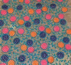 Multicolor Floral Thread Embroidery Fabrics