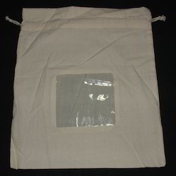 Cotton Eco Friendly Pouch With Window