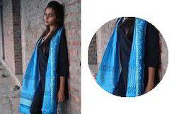 Blue Chanderi Dupatta