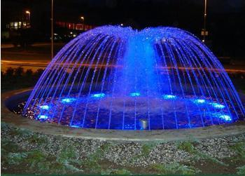 Water Fountain With Blue Light