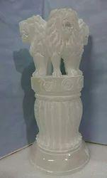 Ashok Stambh Marble Statue
