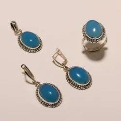 Shree Krishnam Party Wear,Casual Wear Sterling Silver Jewelry Pendant Ring Set 26.5, Packaging Type: Box
