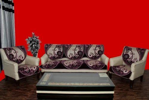 Chenille Sofa Cover Treat Wine
