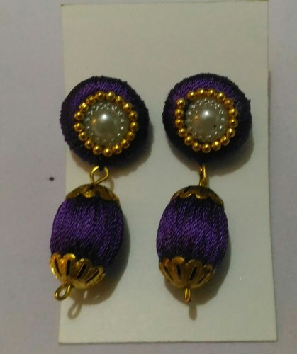 Simple Silk Thread Earring Silk Thread Bangle Manufacturer From