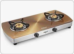 Sunflame Crystal Metal Art Gold 2B SS A I Glass Cooktop