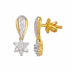 Sonir Party Wear Serene Diamond Earrings, Size: 15.5x5
