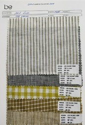 Linen Yarn Dyed Check And Stripe  Fabric