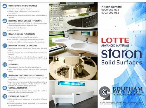 Corian Lotte Staron Samsung Solid Surface