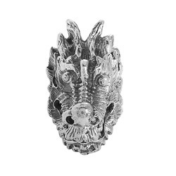 Men's Silver Biker Ring