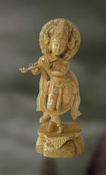 Wood Sculpture Of Lord Krishna (govinda)