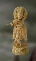 Wood Sculpture Of Lord Krishna (govinda)