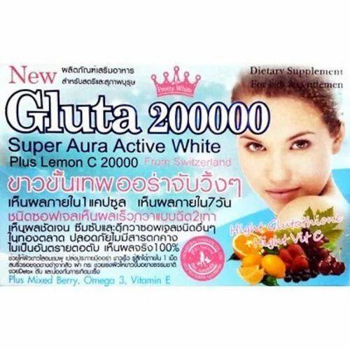 3x Gluta 200000 Mg Softgel L Glutathione Whitening Vit C Mix