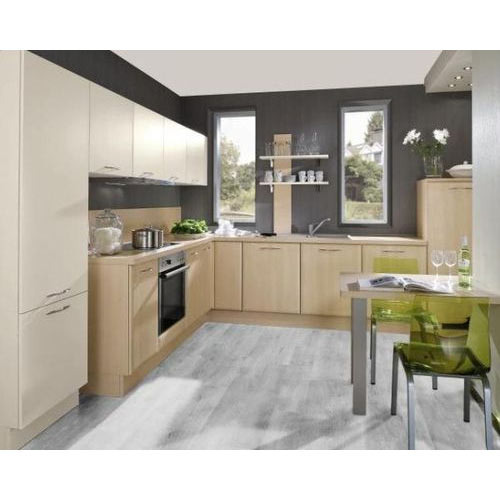 Hettich L Shaped Modular Kitchen, Modular Kitchen - Aaica Modular ...