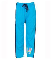 Kids Sky Blue Cotton Track Pants