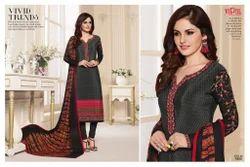 Vipul DCAT 79 Olivia Silk Crepe Designer Salwar Kameez