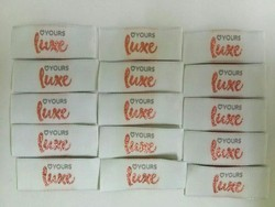 White Printed Woven Labels