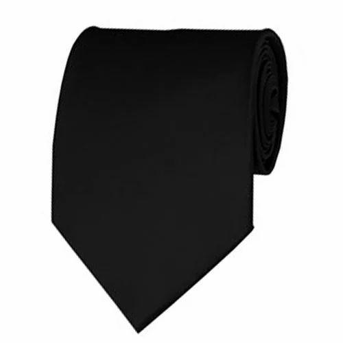 Black Solid Color Necktie