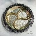 Gold Plated Flower Design Tray