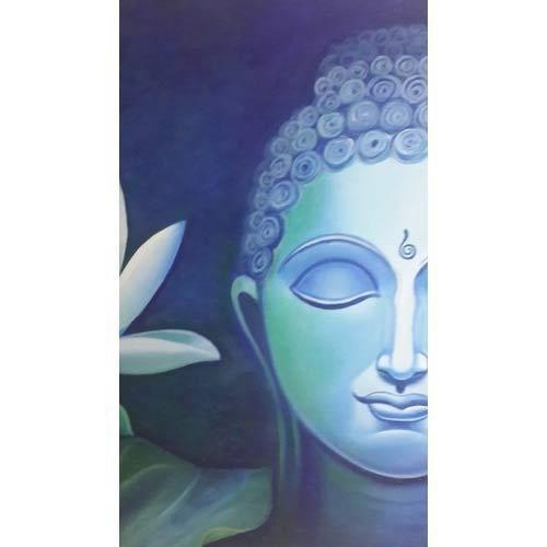 Half Face Buddha Canvas Print