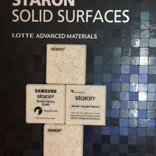 Staron Sanded Sahara Solid Surface Ss 440 06mm 12mm