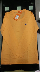 V Neck Full Sleeves Nike T Shirt