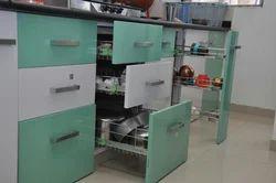 Residential PVC Modular Kitchen