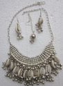 Womens Handmade Cowrie Shells Rabari Necklace Set