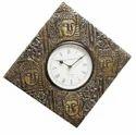 Designer Buddha Brass Fitted Wall Clock