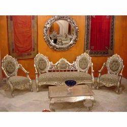 Silver Sofa Set स ल वर फ ट