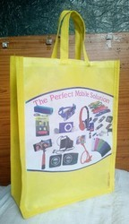 Non Woven Fabric Plain & Printed Mobile Carry Bag, Size: 10x14