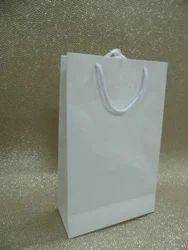 多色普通白色手工制作纸袋与丝带手柄