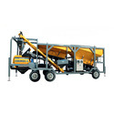 Cosmos Mobile Batching Plant With Twin Shaft, Width: 3037 Mm