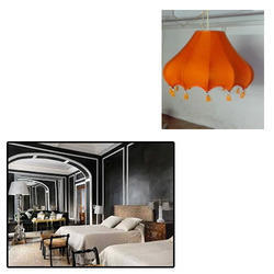 Orange Hanging Lamp for Drawing Rooms