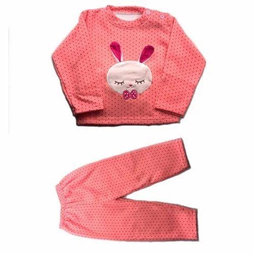 Kids Full Sleeves Top Bottom Winter Dress Set, Size: S