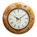 Wood Painted Wall Clock (18x18x12)