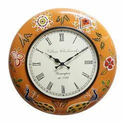 Wood Painted Wall Clock (18x18x12)