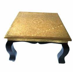 Wooden Chowki Brass Work