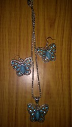 Turquoise Butterfly Necklace set
