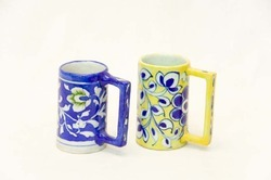 Blue Pottery Coffee Mug