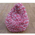 Pink And White Cotton Bean Bag Chair, Packaging Type: Plastic Bag